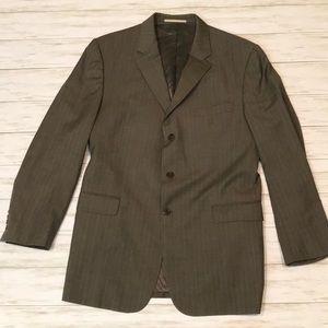 Burberry London mens 46L Gray suit blazer